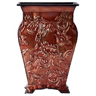 Elements Red Floral Embosseed Vase