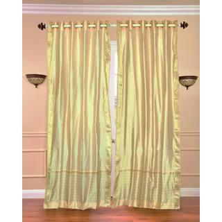 43 x 84 Gold Ring-top Sheer Sari Curtain Panel (India)