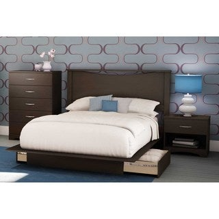 South Shore Step One Full/Queen Platform Bed with 2 drawers