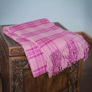 Handcrafted Alpaca Blend 'Mauve Paths' Throw Blanket (Peru)