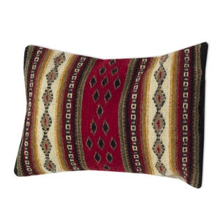 Handcrafted Wool 'Diamond Visions' Cushion Cover (Mexico)