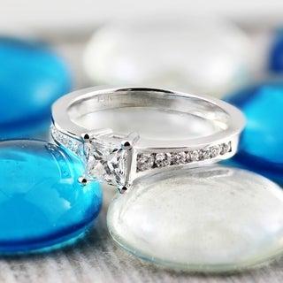 Auriya 14k White Gold 1ct TDW Princess Cut Diamond Engagement Ring (G-H, SI2-SI3)