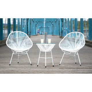 Decorative Modern White Indoor/Outdoor Bistro Dining Set