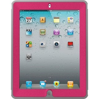 OtterBox Defender Series Pink/ Grey Case with Screen Protector and Stand for iPad 2/ 3/ 4th Generation
