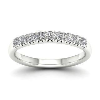 De Couer 14k White Gold 3/8ct TDW Diamond Women's Wedding Band (H-I, I2)