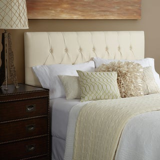 Humble + Haute Halifax Ivory Linen Tufted Upholstered Headboard - King Size