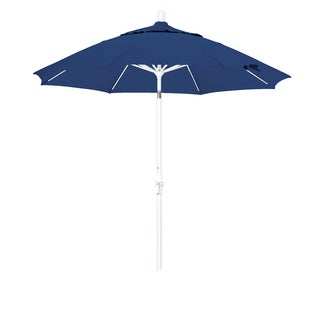 Somette 9-Foot Market Umbrella with Matted White Finish and Olefin Fabric -