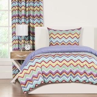 Crayola Mixed Palette Chevron 3-piece Comforter Set