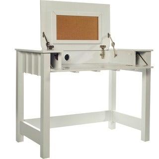 Cork Desk with Flip Up Vanity