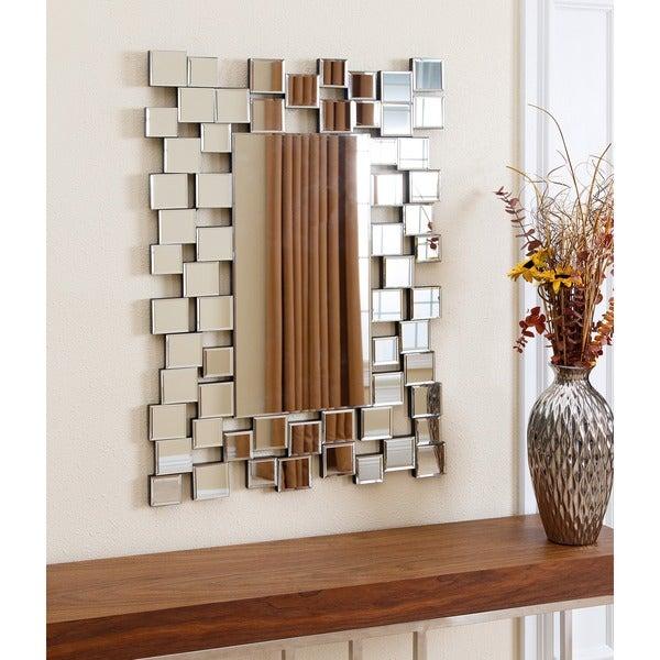 ABBYSON LIVING Aiden Rectangle Wall Mirror Overstock