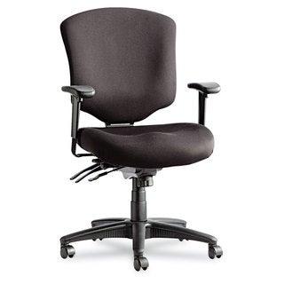 Alera Wrigley Pro Series Black Mid-Back Multifunction Chair w/Seat Glide
