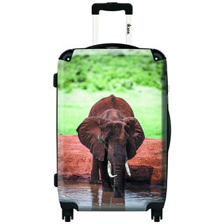 iKase African Elephant 20-inch Carry On Hardside Spinner Suitcase