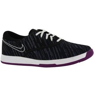 Nike Ladies Lunar Duet Sport Black-Metallic Silver-White Golf Shoes