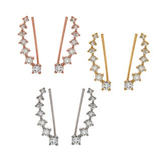Eternally Haute Pave Cubic Zirconia Aries Ear Cuff Climbers
