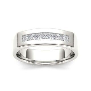 De Couer 14k White Gold 1/2ct TDW Diamond Men's Wedding Band (H-I, I2)