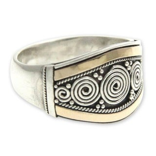 Handcrafted Gold Overlay 'Celuk Legend' Ring (Indonesia)