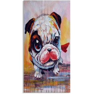 Design Art 'Baby Bulldog' 40 x 20 Canvas Art Print