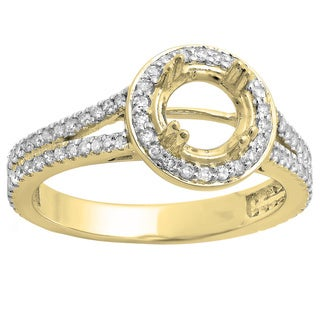 14k White Gold 1/2ct TDW Round-cut Diamond Semi-mount Engagement Ring (H-I, I1-I2)