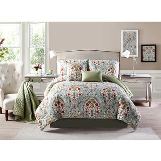 Victoria Classics EvelynReversible Pintuck 6-Piece Comforter Set