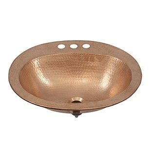 Kelvin 20-inch Drop-in Hand-crafted Copper Unfinished Bath Sink