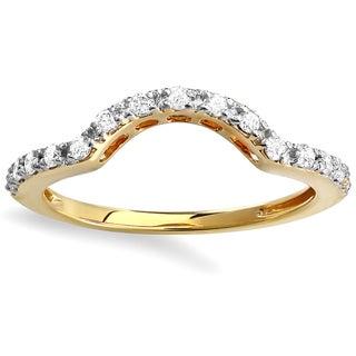 14k Yellow Gold 1/3ct TDW Round Diamond Anniversary Wedding Band (H-I, I1-I2)
