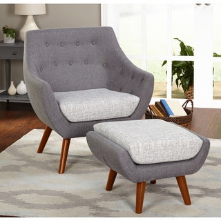 Simple Living Elijah Chair and Ottoman Set