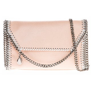Stella McCartney Falabella Pearlescent Faux-Leather Fold-Over Clutch