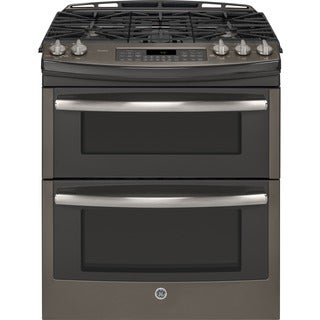 GE Profile Series 30-inch Slide-in Double Oven Gas Range