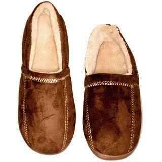 Deluxe Comfort Men's Suede Fleece Slipper