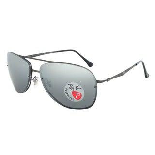 Ray-Ban RB 8052 154/82 Polarized Aviator Sunglasses - Gunmetal Titanium Frame