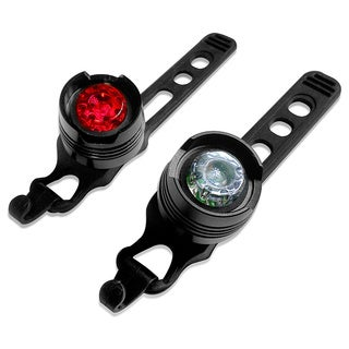 LED Bicycle Red and White round lights