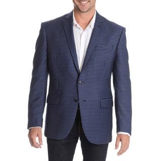 Daniel Hechter Men's Blue Fancy Wool Sport Coat