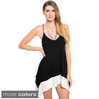 Shop The Trends Women's V-Neck Tunic Dress with Contrast Trim