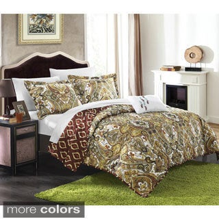 Chic Home Paisley Global Inspired Veleda Reversible 8-Piece Quilt Set