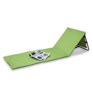 Danya B Set of 2 Portable Beach Lounge Chairs with Pockets and Carry Straps - Green