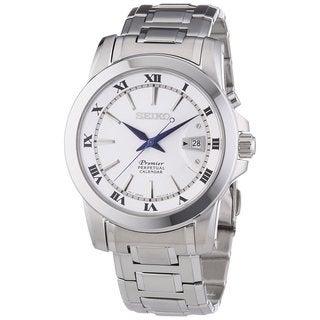 Seiko Men's SNQ139P1 Premier White Watch