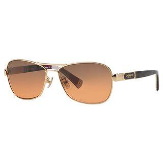 Coach Women's HC7012 L038 Caroline 916995 Metal Pilot Sunglasses