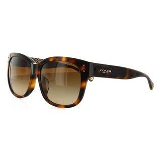 Coach Women's HC8086F 521513 Plastic Rectangle Sunglasses