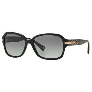 Coach Women's HC8105 L082 Amber 522611 Plastic Rectangle Sunglasses