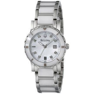 Bulova Women's 98P121 'Highbridge' Diamond Two-Tone Ceramic Watch