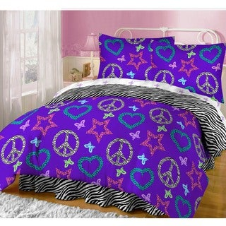Hearts and Peace 8-piece Bed in a Bag