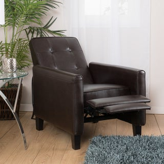 Christopher Knight Home Ethan Tufted Bonded Leather Recliner Chair