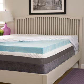 Slumber Solutions Choose Your Comfort 2-inch Gel Memory Foam Mattress Topper with Egyptian Cotton Cover