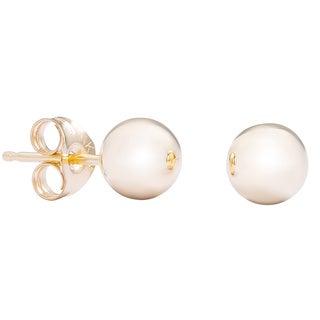 14k Yellow Gold 3mm Ball Stud Earrings