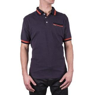 Members Only Men's Striped Trim Polo Shirt