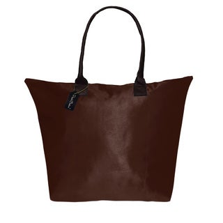 Peach Couture KYLIE Solid Coffee Plage a Main Waterproof Beach Tote