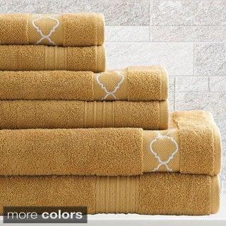 Jewel Tone Quatrefoil 6-Piece Towel Set