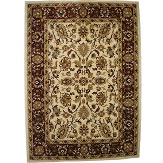 Traditional High Quality Area Rug Beige Oriental Rug (6'6 x 9'6)