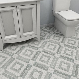 SomerTile 11.75x11.75-inch Scholar Bazaar Grey Porcelain Mosaic Floor and Wall Tile (Case of 10)