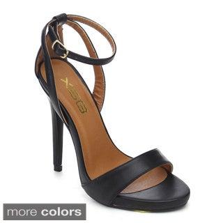 Women's X2b Aisha-2 Closed Back Stiletto Heel Ankle Strap Dress Sandals